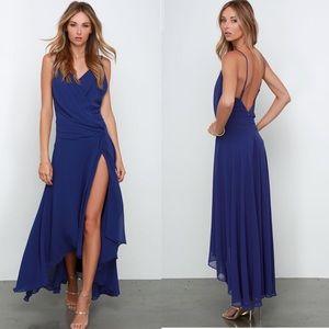 Lulus royal blue high low dress
